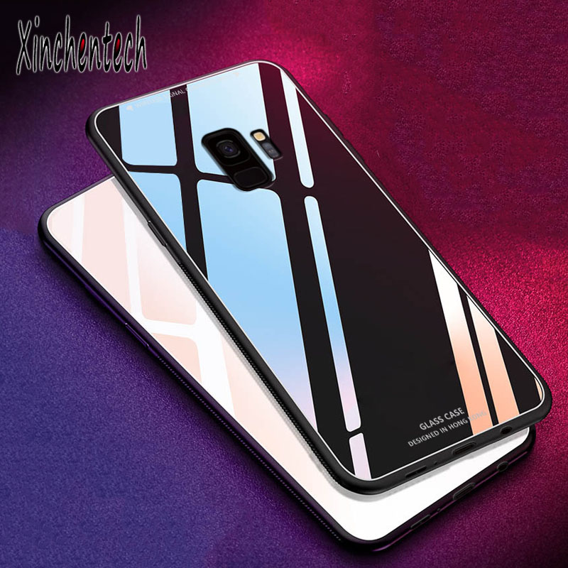 Luxury Tempered <font><b>Glass</b></font> <font><b>Cover</b></font> For <font><b>Samsung</b></font> Galaxy Note 8 9 10 S10E S8 S9 S10 Plus A6 <font><b>A7</b></font> A8 A9 2018 J4 J6 J8 J2 J5 J7 J3 2017 Case image