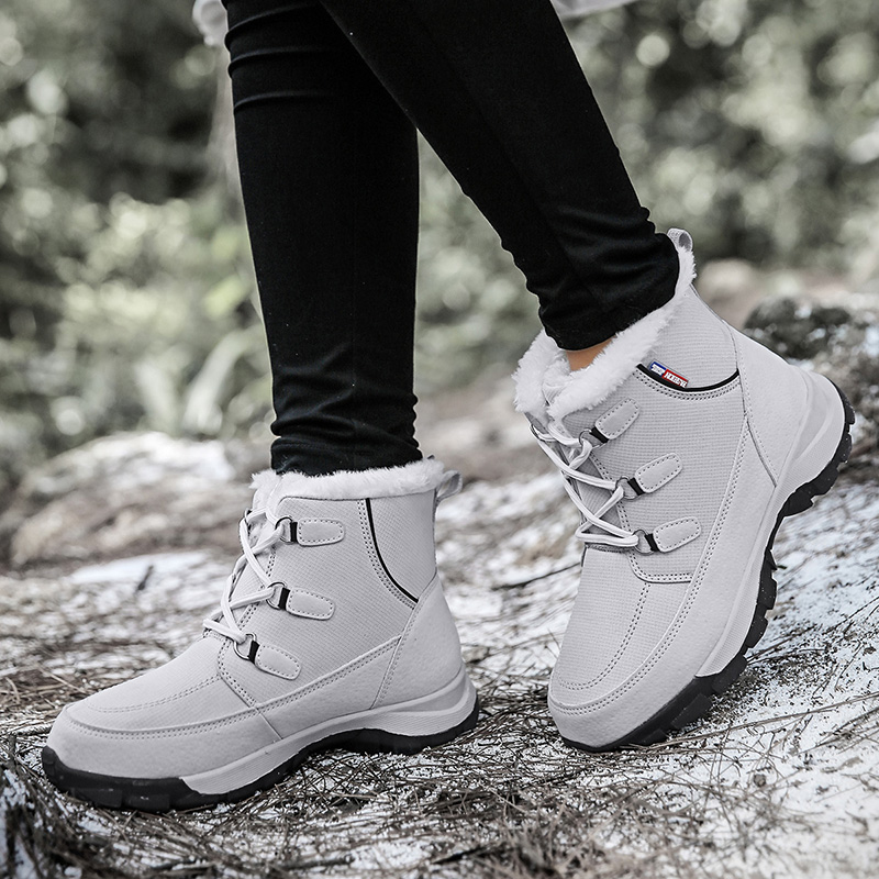 STS Women Snow Boots Ankle Winter New Keep Warm Plush Cotton Women Shoes Fashion Waterproof Casual Outdoor Sneakers botas mujer