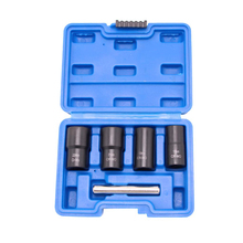 5PCS Extractor Socket Set Impact Bolt Nut Kit Nut Removal Tool for Removing Rust Wear Wheel Nuts Hand Tools Kit With Box NICE