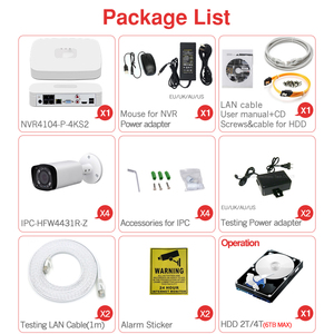 Image 5 - Dahua 4MP 4+2/4 Security CCTV Camera Kit Original NVR NVR4104 P 4KS2 16POE & 2/4pcs OEM IP Camera Zoom IPC HFW4431R Z 4X ZOOM