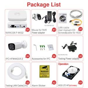 Image 5 - Dahua 4MP 4 + 2/4 Sicherheit CCTV Kamera Kit Original NVR NVR4104 P 4KS2 16POE & 2/4 stücke OEM IP Kamera Zoom IPC HFW4431R Z 4X ZOOM