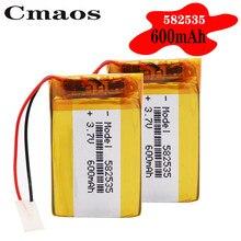 Bateria polimerowa 600 mah 3.7 V 582535 inteligentne domowe głośniki MP3 akumulator litowo-jonowy do dvr,GPS,mp3,mp4, power bank DVD, głośnik