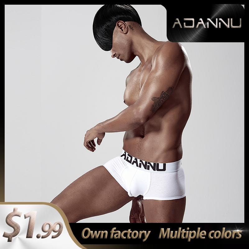 Trunks Cotton LOGO Soft Sexy Men Underwear Boxer Shorts Fashion Long Boxer Mens Boxershorts Underware Boxers  Bikini AD125