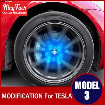 Luces de eje ambiental con Logo de coche Maglev luz de Color azul para Tesla MODEL 3 decoración Exterior modificada accesorios modificados