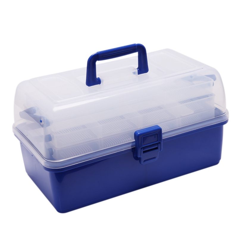Multi Layer Fishing Tackle Box Fly Fishing Storage Case Waterproof Portable Fishing Gear Storage Box Adjustable Compartments|Fishing Tackle Boxes| |  - title=