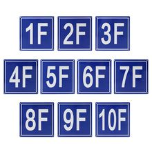 Floor Number Signs Aluminum Signs for 1F to 10F for School Office Hotel Hospital