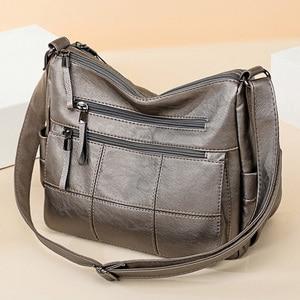 Image 4 - 2019 Luxury Thread Handbags Women Bags Designer Soft Leather Bags For Women Crossbody Messenger Bag Ladies Vintage Shoulder Bag