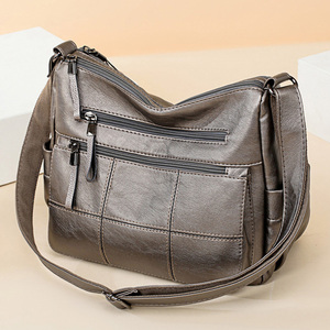 Image 4 - 2019 高級糸ハンドバッグ女性バッグデザイナーソフト女性のクロスボディメッセンジャーバッグ女性ヴィンテージショルダーバッグ