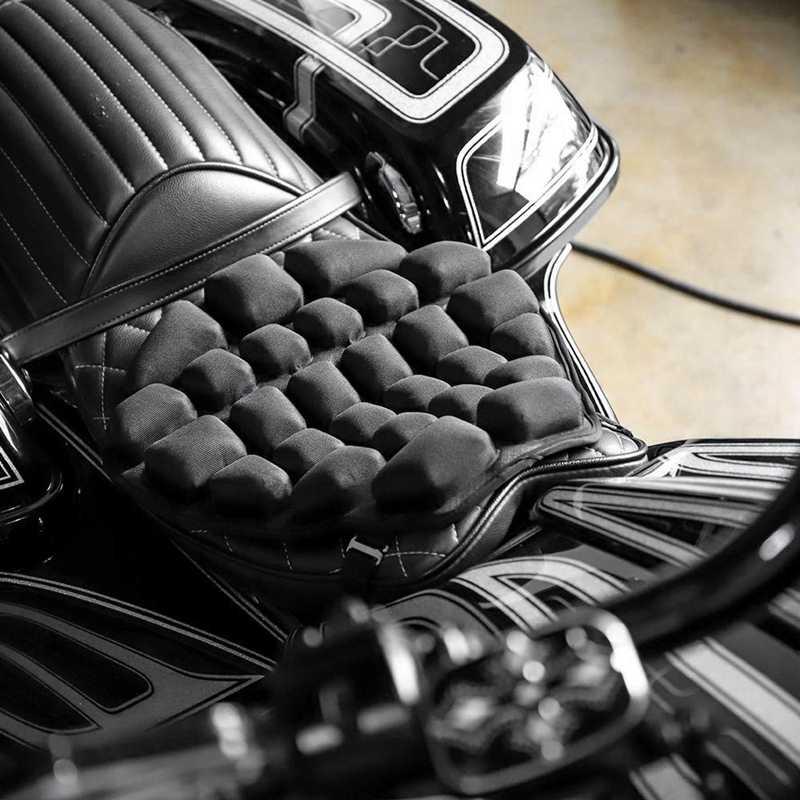 รถจักรยานยนต์ที่นั่งเบาะบรรเทาความดันRide Seat Cushion TPUน้ำ-เติมที่นั่งPadสำหรับCruiser Touring Saddles