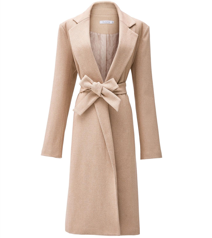 NEW Autumn Winter Coat Women Woolen Coats With Belt Overcoats Long Section Windbreaker Wool Jackets Outerwear