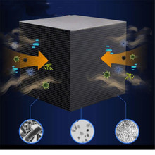 10X10CM Activated Carbon Water Filter Eco-Aquarium Water Purifier Cube Honeycomb Ultra Strong Filtration & Absorption Filter new air purifier double negative ion output port four layer filtration primary filtration activated carbon cold catalyst hepa