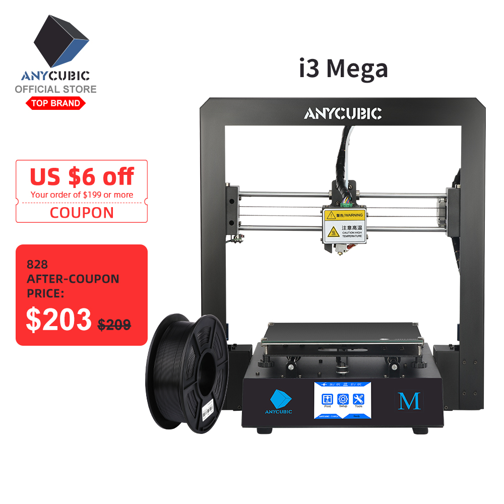 ANYCUBIC 3d-Printer Mega Full-Metal-Impresora Large High-Precision Touch-Screen Plus-Size