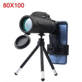 Powerful telescopes 80x100 night vision monocular zoom optical spyglass monocle for tourism sniper hunting rifle spotting scope