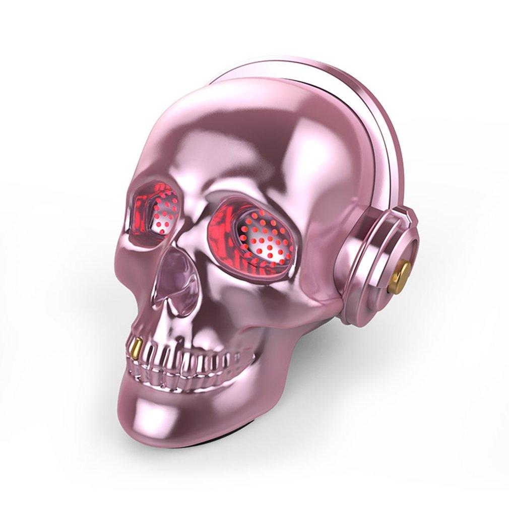 Skull Bluetooth Speaker Wireless Sunglass Skull Shape Speaker Mobile Subwoofer Multipurpose Portable Speaker Cool|Portable Speakers| |  - title=