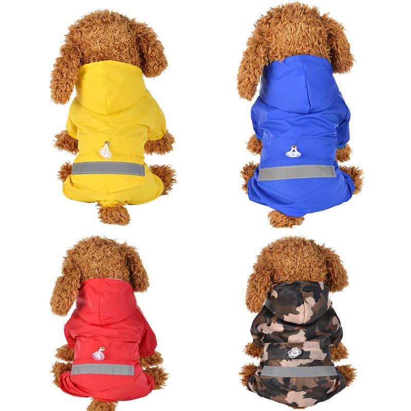 Impermeabile del cane per I Cani Pet Felpe Cani Vestiti del Cappotto di Pioggia Impermeabile per la Pioggia Bulldog Francese Cappotti di Pioggia Cucciolo di Cane di Pioggia vestiti