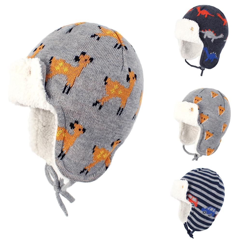 Connectyle 2019 New Style Baby Infant Boys Girls Kids Cotton Winter Hat Fleece Lined And Windproof Cute Cartoon Earflap Warm Hat