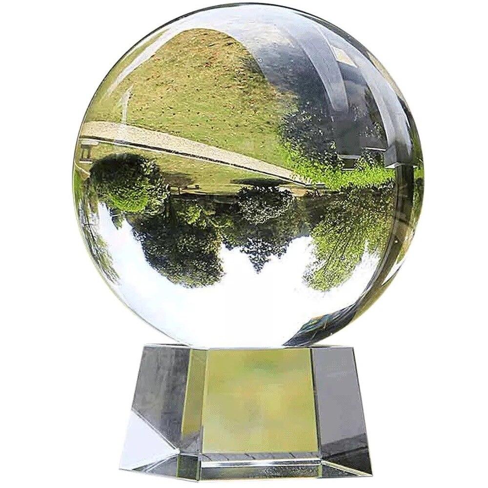 Crystal Ball Large Transparent Crystal Ball Lucky Rainbow Photo Crystal Ball