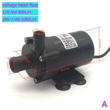 Pompe à eau chauffe eau électrique, 12V DC, 800l/H, 1000l/H, silencieuse 24V, DC, circulation, vente en gros