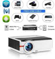 Bluetooth Wireless LCD Projector WXGA Android Wifi 8000 Lumen Multimedia Smart HD LED Home Theater Projector Support 1080P HDMI