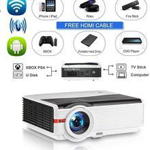 Bluetooth Wireless LCD Projector WXGA Android Wifi 8000 Lumen Multimedia Smart H