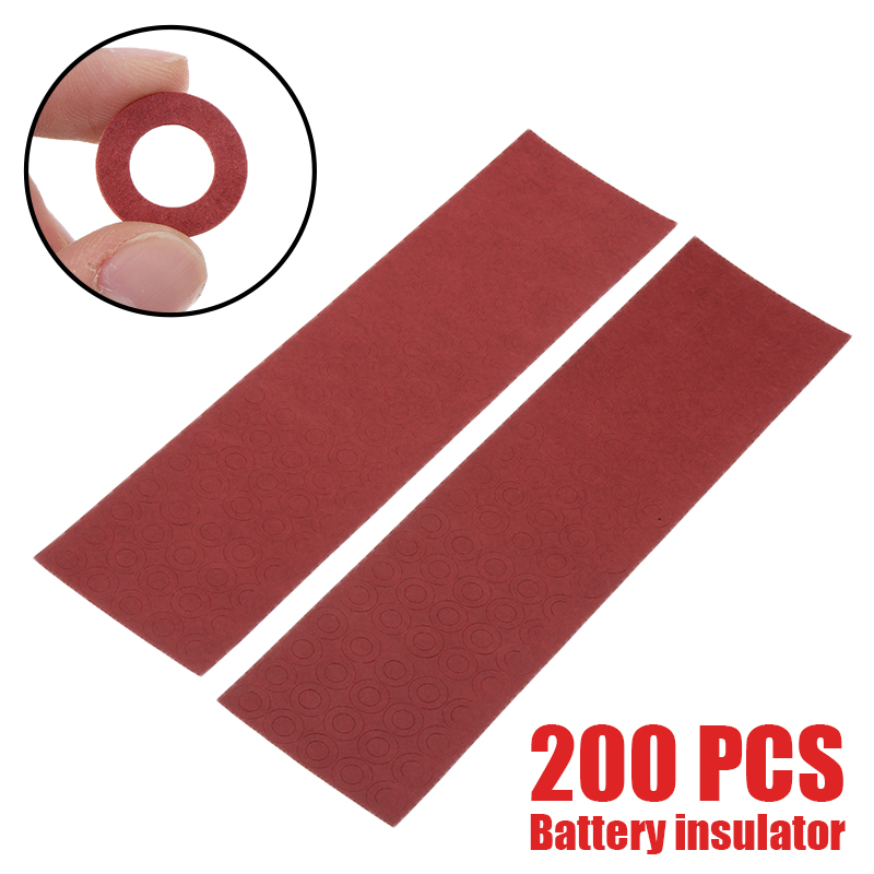 200pcs Li-ion Battery Insulation Gasket Insulator Ring For 18650 Battery Pack Insulating Glue Patch Electrode Insulated Pads