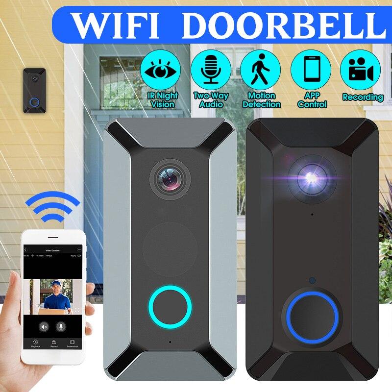 WiFi Video Doorbell 1080P Wireless Smart Security Camera Door Bell 2-way Talk PIR Motion Detection Night Vision Video Intercom