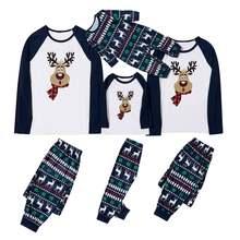 2020 рождественские пижамы для всей семьи с рисунком оленя мамы