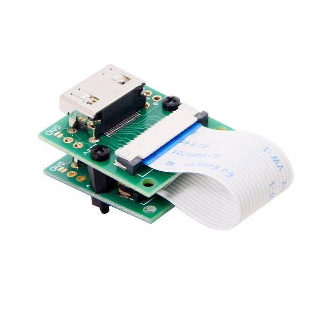 CYDZ Raspberry PI Camera Module to HDMI compatible Type A Male HDTV FPC Flat Cable 5cm fit for PES001