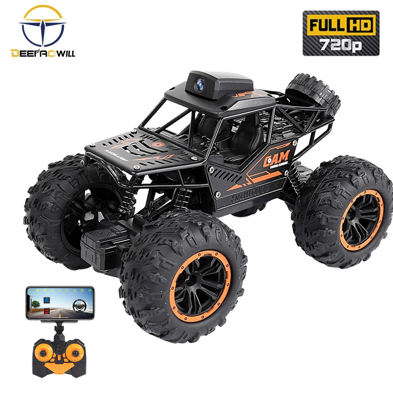 2020 NEW C023 RC CAR HD Camera Wireless Climbing Off-Road Vehicle Wifi Camera Video Gravity Sensor Mobile Phone Control Toys