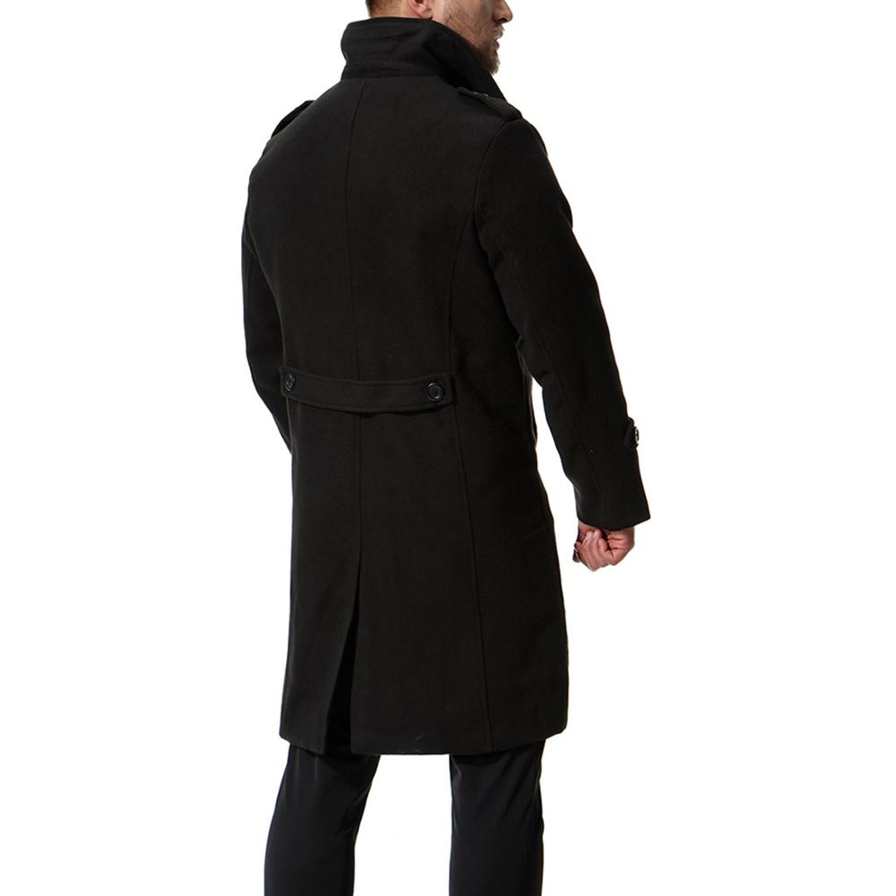 Autumn Winter New Men's Wool Blends Long Coat Jacket Male Slim Fit Cashmere Overcoats Outerwear