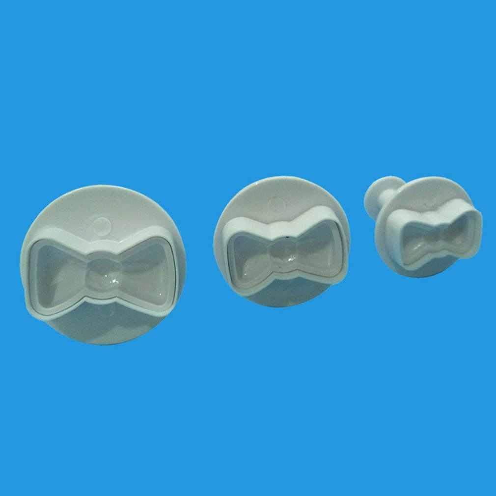 3 шт./компл. 3D Мини бант пластиковые формы бабочка лук силиконовые помадки торт