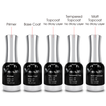 VENALISA No-wipe Top Coat 12ml CANNI Nail Art Gel Polish DIY Tips Soak off Base Foundation No Sticky Layer Non-cleansing Topcoat