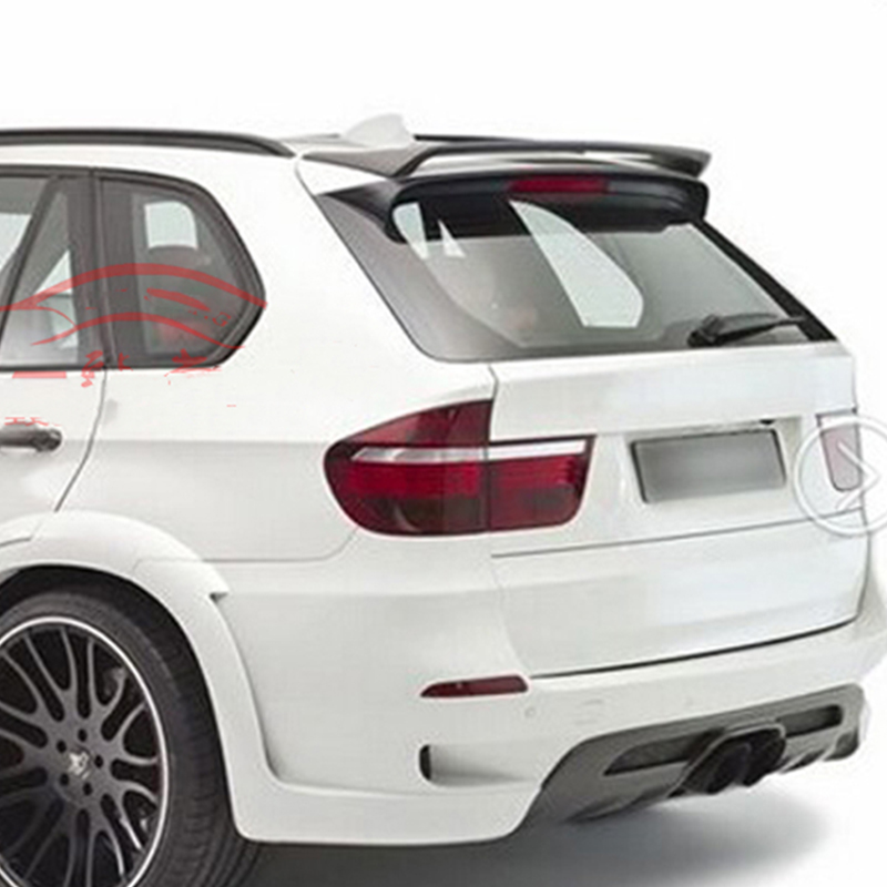 Use for BMW X5 E70 spoiler 2007--2013 year real glossy carbon fiber/FRP rear roof wing Sport body kit Accessories image