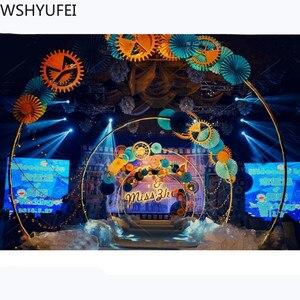 Image 4 - Kunstmatige Smeedijzeren Ronde Ring Boog Deur Simulatie Bloem Rij Huis Vakantie Viering Bruiloft Kerst Decoratie Ems