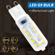 Светодиод лампа G9 кукуруза свет 3 Вт 5 Вт светодиод прожектор AC 220 В свет 14 22 светодиода лампара крытый люстра свеча замена галоген лампа SMD2835