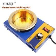 KUAIQU 220V Adjustable Temperature Lead Free Solder Pot Tin stove Melting Furnace Temperature Soldering Desoldering 200℃-480 ℃