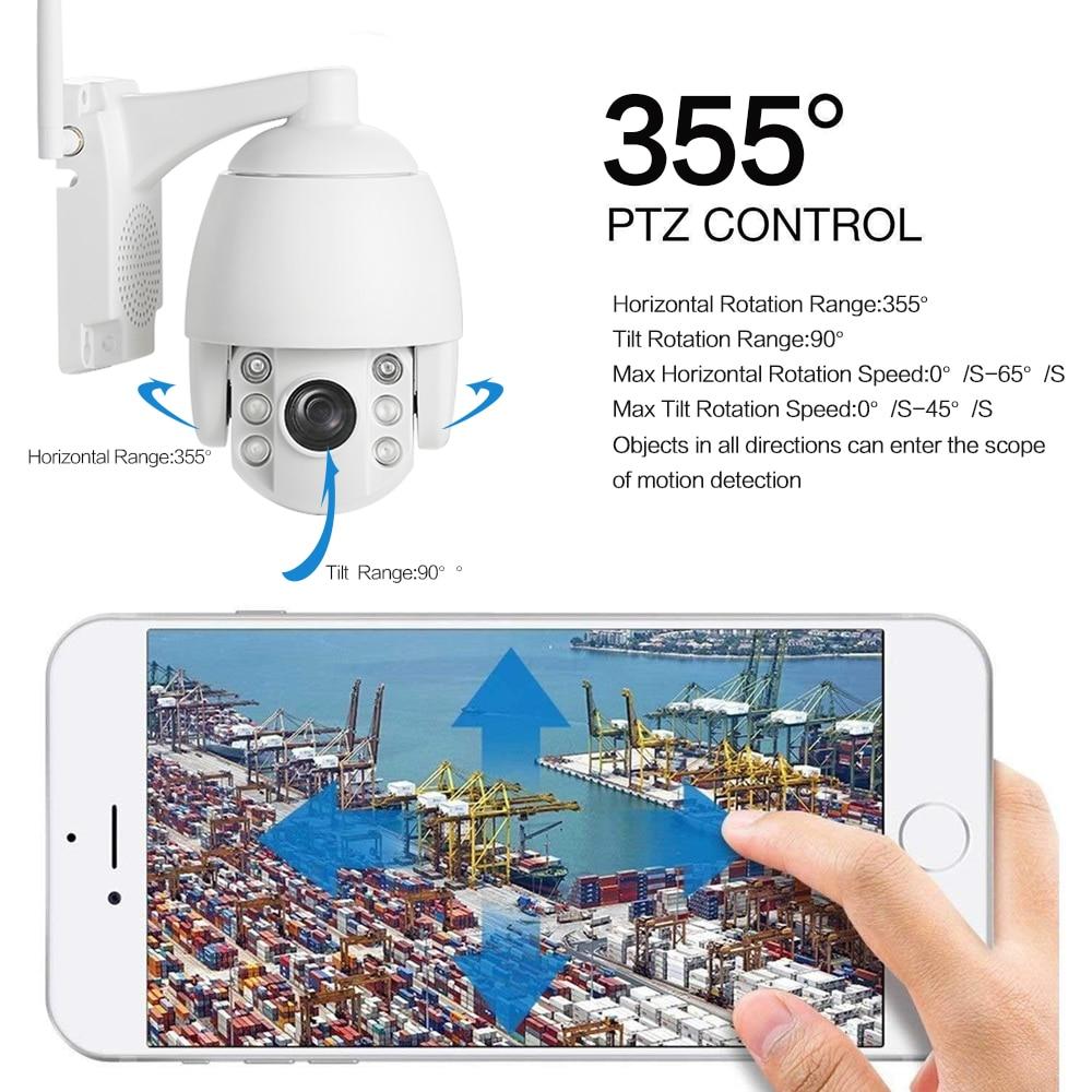 Image 4 - 4G 3g Беспроводная PTZ ip камера HD 1080P Открытый водонепроницаемый скоростной купол 5X зум/4 мм объектив двухстороннее аудио p2p CCTV Wi Fi безопасности C-in Камеры видеонаблюдения from Безопасность и защита