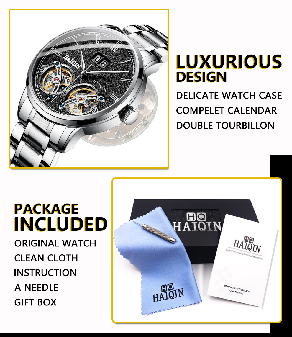 HAIQIN Men's watches Mens Watches top brand luxury Automatic mechanical sport watch men wirstwatch Tourbillon Reloj hombres 2020 Hfda8956096084a93a970e04a6656b118I