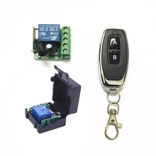 DC 12V 1CH Relay Receiver Module RF Transmitter 433Mhz Wireless Remote Control Switch wide voltage dc 12v 24v 36v 48v 30a 1ch wireless remote control switch receiver board