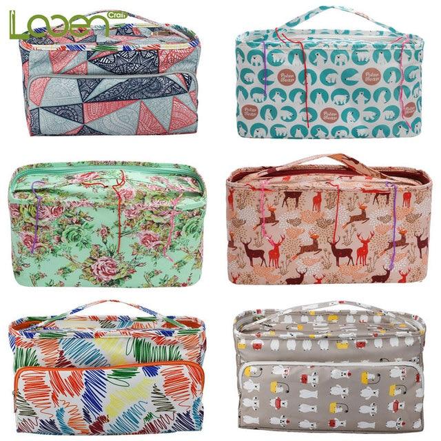 Looen 11 Styles Yarn Knitting Bag For DIY Needle Arts Craft Holder Tote Organizer Storage Crochet Bag Empty Square Storage Bag