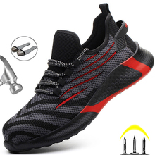 Men Work Safety Shoes Anti-puncture Working Sneakers Male Indestructible Work Shoes Men Boots Lightweight Men Shoes Safety Boots