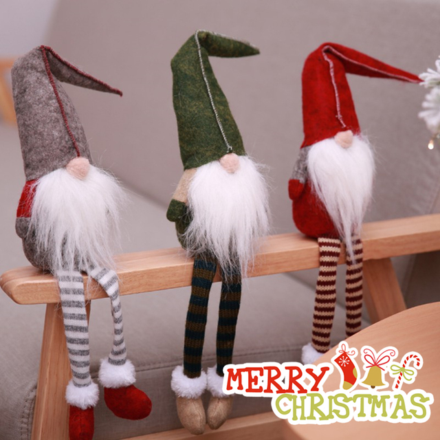 60*40cm Carpet Merry Christmas Decoration for Home Christmas 2019 Ornaments Garland New Year 2020 Noel Santa Claus Xmas Snowman 5
