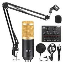 Kits de micrófono de condensador de estudio BM 800, amplificador de grabación para ordenador, Pantom Power bm-800, tarjeta de sonido para karaoke