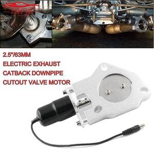 """Image 1 - 1 """"2"""" 2.25 """"2.5"""" 3 """"universal T 6061 alumínio catback de escape elétrico/downpipe recorte/E CUT para fora válvula do motor kit tp006a eua navio"""