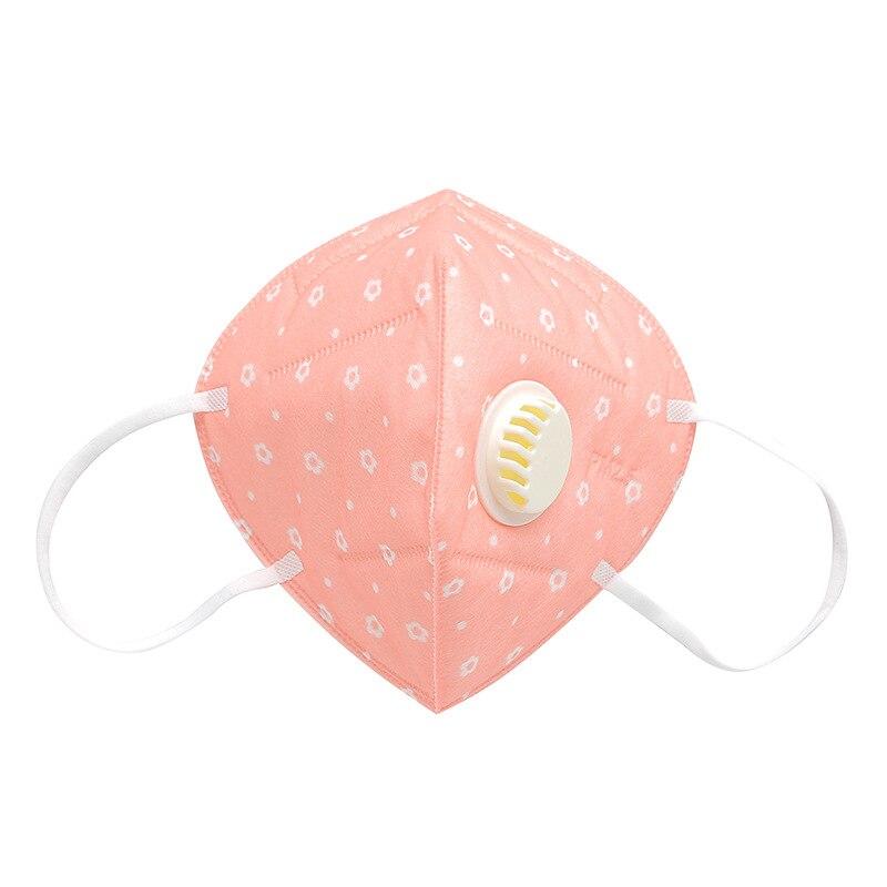 Пылезащитная маска PM2.5 анти-туман против пыли гриппа лица рот Теплые Маски Здоровый воздушный фильтр пылезащитный Антибактериальный защитный - Цвет: Розовый