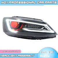 car accessories for VW JETTA MK6 2012 2017 Headlights LED Light Bar of Audi Style DRL Bi Xenon Lens HID Automobile