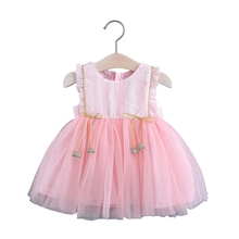 Cute Dresses Wedding Toddler Baby-Girls Party-Costumes Sleevless Infant Summer New Fashion