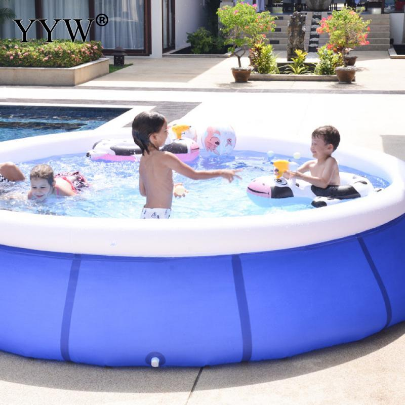 Inflatable Pool Removable Family Children Pool Swimming Bathing Fun Party Tools Blue Round Beach Inflatable Kid Swimming Pool