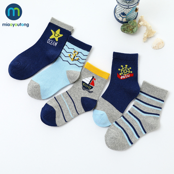 5 Pairs/Lot Boat Cartoon Soft Cotton Baby Boy Kids Children's Socks For Girls New Year's Socks Warm Socks Women's Miaoyoutong 1