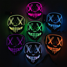 Halloween Mask LED Light Up Party Masks Cosplay Costume Bar DJ Luminous Festival Supplies Glow In Dark Hot sales